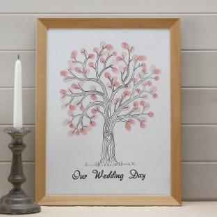 Arbre à souhaits, arbre à empruntes, rose