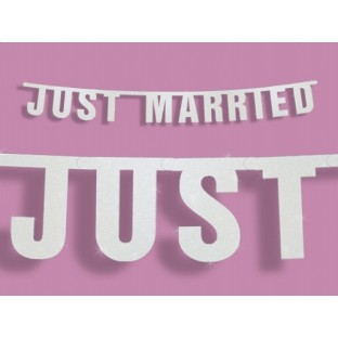 "Guirlande, banderole lettres ""Just Married"""