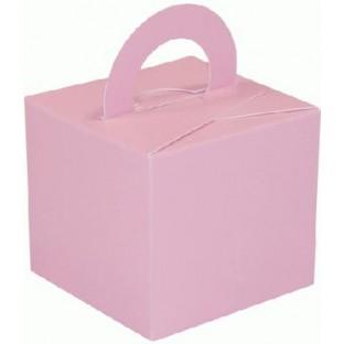 10 Boite a cube ou poids ballons rose pâle