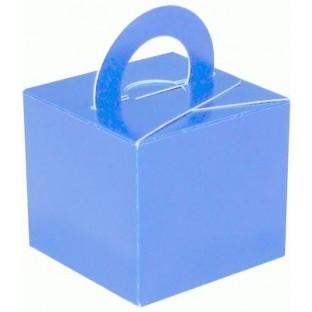 10 boite cube bleu ciel ou poids ballons