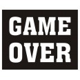 "Autocollant sticker chaussures "" Game over "" ( x 2 )"