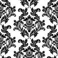 Serviettes en papier motifs baroque noir blanc (x20)