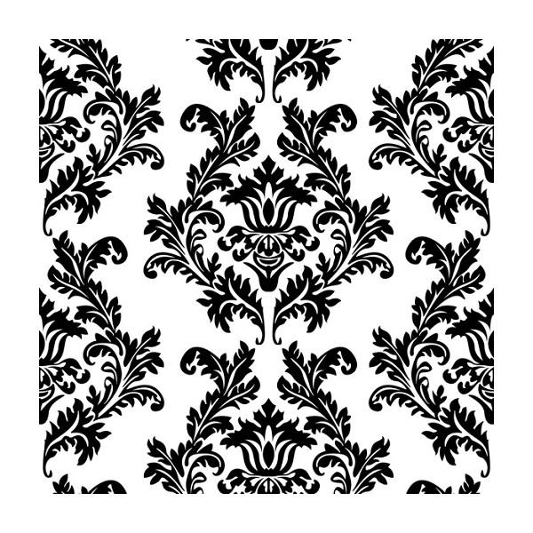 Motif Tatouage Noir Et Blanc: Serviettes En Papier Motifs Baroque Noir Blanc (x20