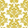 Serviettes en papier motifs baroque or blanc(x20)