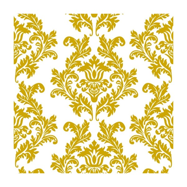 Serviettes en papier motifs baroque or blanc x20 - Serviette en papier motif ...