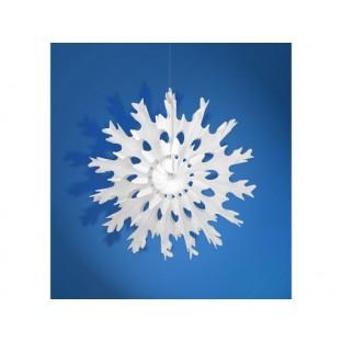 Flocon de neige en papier alvéolé 25 cm