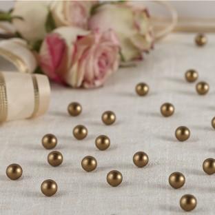 Perles à parsemer déco de table or mat