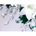 Clear weddding drop pendant, 5 pcs