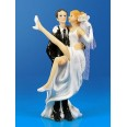 "Figurine ""Bride carried on hands"""