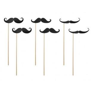 6 accessoires photobooth, moustache