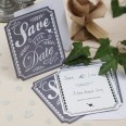 "Carte de mariage vintage ""Save the date"""
