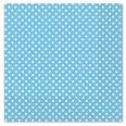 20 serviettes bleu ciel à pois blanc