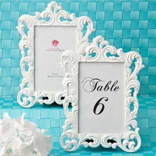Cadre baroque blanc marque table nom ou num ro th me baroque creative emotions - Petit cadre baroque pas cher ...