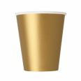 8 gobelets carton or gold