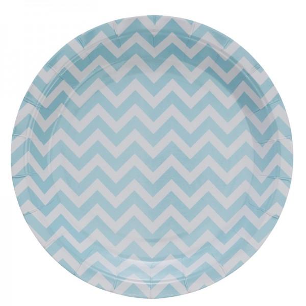 8 assiettes jetables motif chevron assiettes jetables creative emotions. Black Bedroom Furniture Sets. Home Design Ideas
