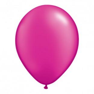 5 ballons latex rose magenta fuchsia 28 cm