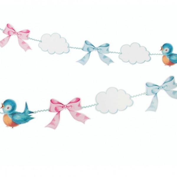 Guirlande baby shower baby on board oiseau pastel baby on board creative emotions - Guirlande baby shower ...