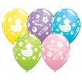 Ballons Baby Shower canard ducky (x 5)