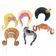 Kit Photobooth cheveux, perruques dame ( x 6)