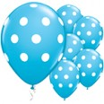 "11"" Robin's Egg Blue Big Polka Dots Balloons"