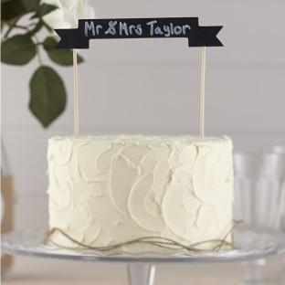 Décoration gâteau ardoise cake topper