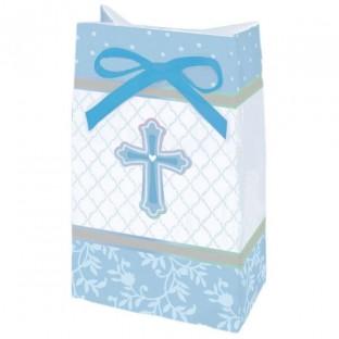 12 sachets communion croix bleu gar on bo tes drag es naissance bapt me creative emotions. Black Bedroom Furniture Sets. Home Design Ideas