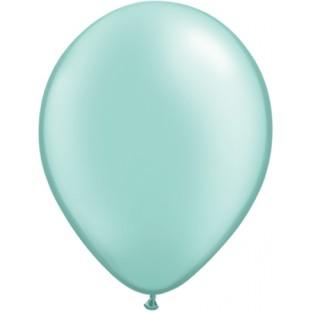 5 ballons perlés vert menthe mint