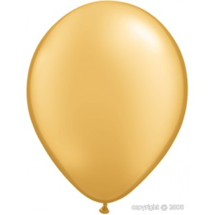 "5 Ballons Qualatex Or Gold"" 11"" 28cm"