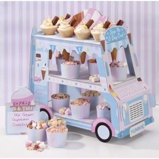 Présentoir à cupcakes camionette Ice Cream