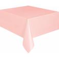 Nappe rose clair en plastique