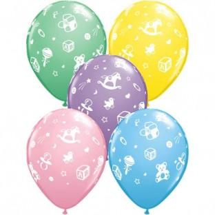5 Ballons Baby Shower nursery