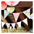 Guirlande de fanions fleurs vintage tea party