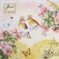 20 wedding paper napkins - LOVE BIRDS