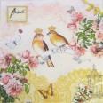 """Serviettes mariage romantique oiseaux """"Love Birds"""""""