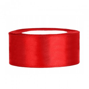 Ruban de satin large 25 mm ROUGE