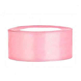 Ruban de satin large 25 mm, rose pâle