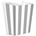Pots à popcorn rayures blanc gris  (x 5)