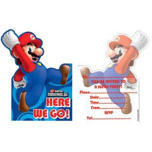 6 Cartes D Invitation Anniversaire Mario Bros Super Mario Bros Creative Emotions