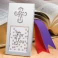Petit cadre croix brillante cadeau d'invité communion