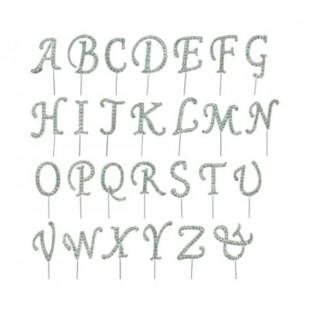 Pique diamant strass lettre decoration gateau