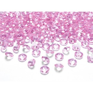Perles diamant de table rose pâle 12mm