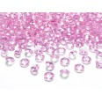 Perles diamant de table rose pâle 12mm