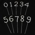 Pique diamant chiffres décoration gateau