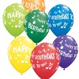 Ballons Happy Birthday to you, notes de musique