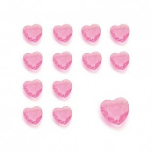 Perles diamant coeur rose deco de table