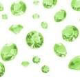 Perles Diamant de table, vert pomme (6-12mm)