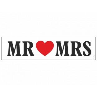 "Plaque voiture mariage ""Mr & Mrs"""