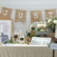 Banderole guirlande Just Married vintage jute