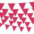 Banderole fanions rouge à pois blanc