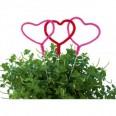"""5 pics décoratifs """"sweet love"""" coeur rose et rouge"""